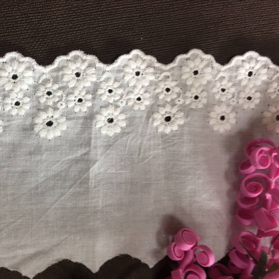 available in 10 colors poly cotton embroidery voile lace fabric