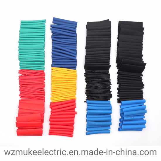 Tool Polyolefin Tube Assorted 2:1 Heat Shrink Tubing Cable Sleeve Wire Wrap Kit