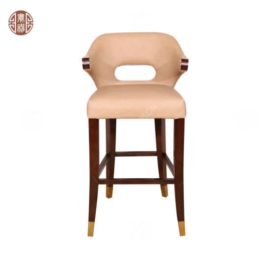 Hotel Lobby Furniture Bar Chair for Counter at Public Area Bar Stool