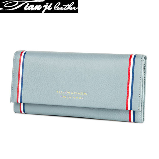 Factory Wholesale Fashion Women Purse Genuine Leather Lady Wallet with Certificate (J949) pictures & photos