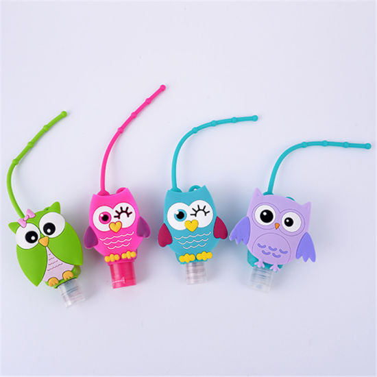 Promotional Gift Cartoon Pattern Silicone Cute Waterless Hand Sanitizer Holders for Outdoor