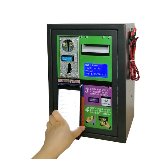 2020 New Ideas Banknote Coin Operated Outdoor Vandal-Proof Steel Plate Pay Kiosk WiFi Vending Machine for Restaurants