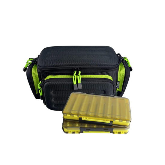 Fishing Tackle Storage Bag with Large Clear Pockets, Water Resistant Fishing Gear Bag