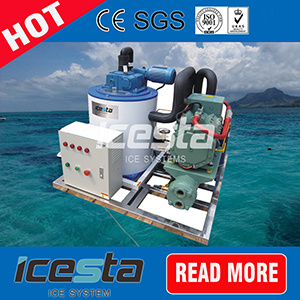 Large Capacity 10 Tons/Day Flake Ice Machine for Fishery