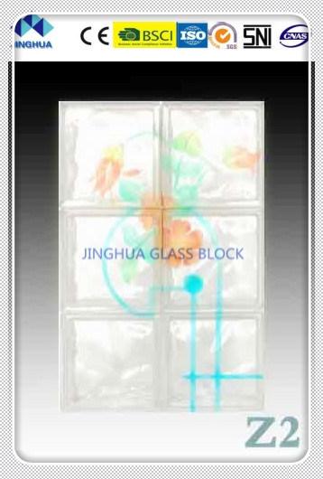 Jinghua High Quality Artistic Z-2 Painting Glass Block/Brick