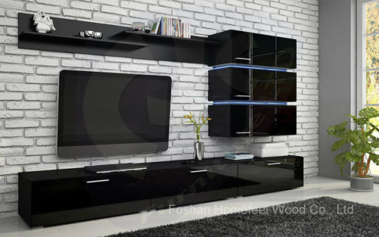 Wooden White Glossy Elegant Design TV Cabinet (HF-EY080910) pictures & photos