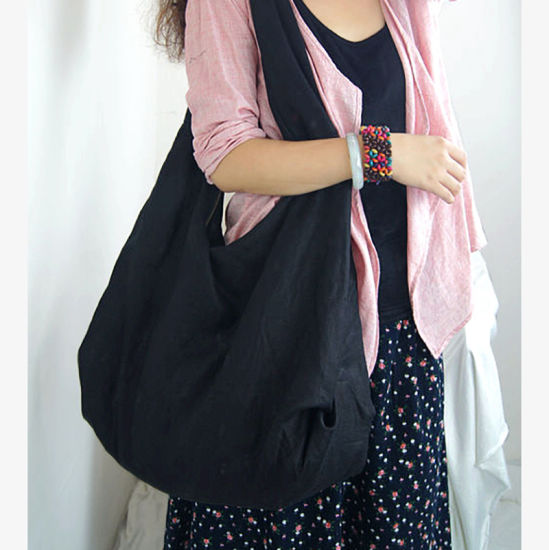 Wholesale China Large Fabric Shoulderbags Women Handbags Sling Lady Bag