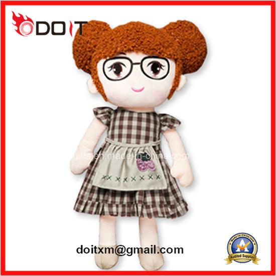 En71 Custom Made Cartoon Girls Baby Stuffed Toy Plush Rag Doll