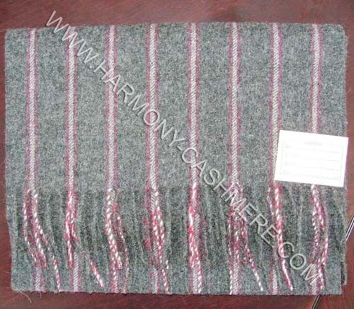 Woven Cashmere Soft Scarf with Strip