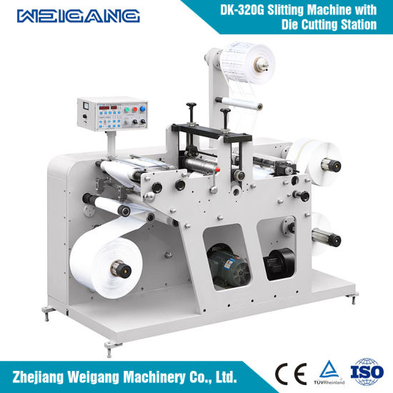 Dk-320 Full Automatic High Speed Label Slitting and Rewinder Machine with Counting Function