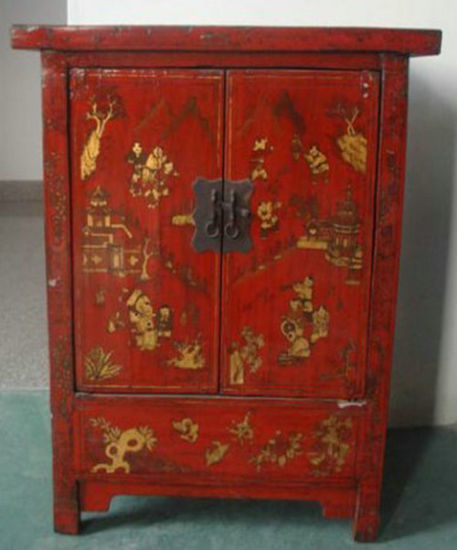 Chinese Antique Painted Cabinet Lwb811