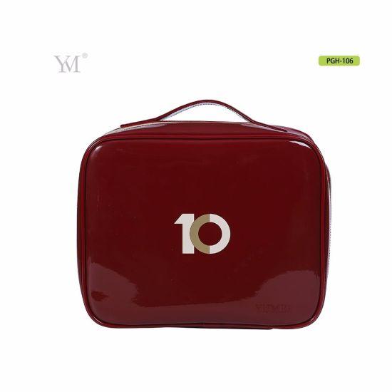 New Designer Portable Handle Cosmetic Bag Custom Leather