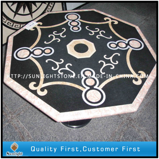 Customized Decorative Natural Stone Marble Mosaic Water Jet Floor Tiles pictures & photos