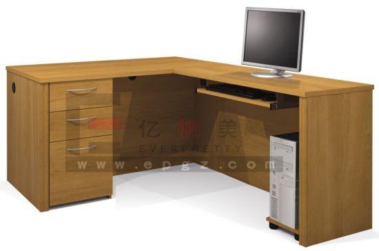 Standard Side Return Wooden Furniture Secretary Office Executive Desk For School