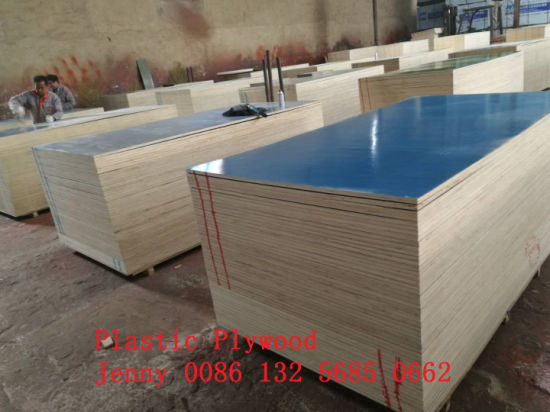 18mm/21mm Plastic Film Faced Plywood Full Poplar Core for Construction pictures & photos