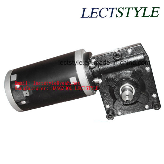 12V or 24V 50rpm 100W-350W DC Worm Gear Motor pictures & photos