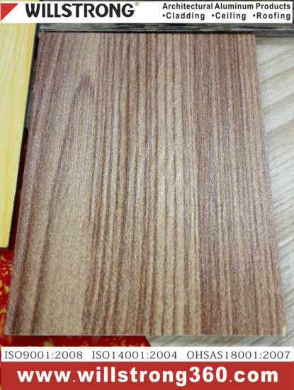 0.4mm Color Coated Aluminum Coil with Wood Grain Pattern pictures & photos