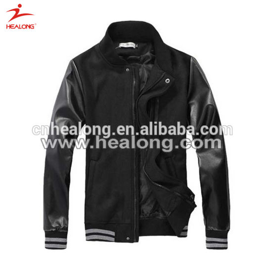 Healong Sportswear Custom Dry Fit Sublimation Mens Baseball Jacket pictures & photos