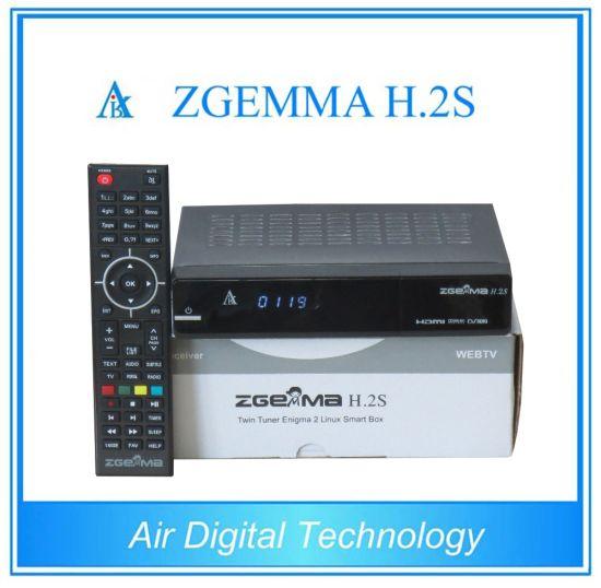 China Original Enigma2 Linux Zgemma H  2s Twin DVB-S2 FTA