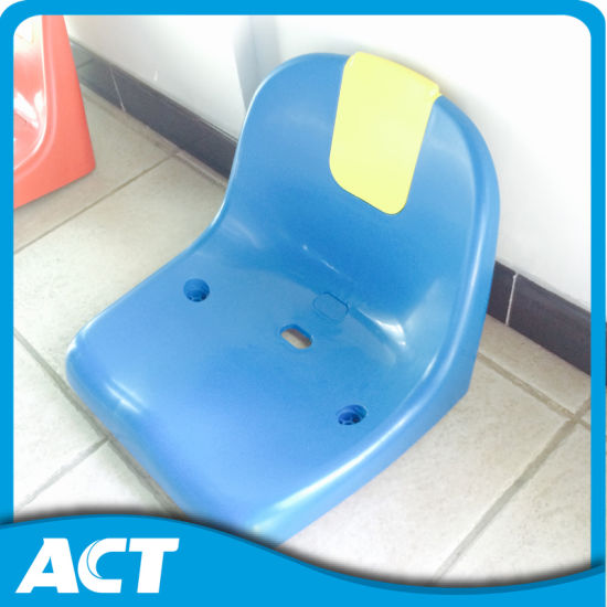 2016 Hot Sale Half Back Injection Molded Stadium Seat with Advertisement Plate