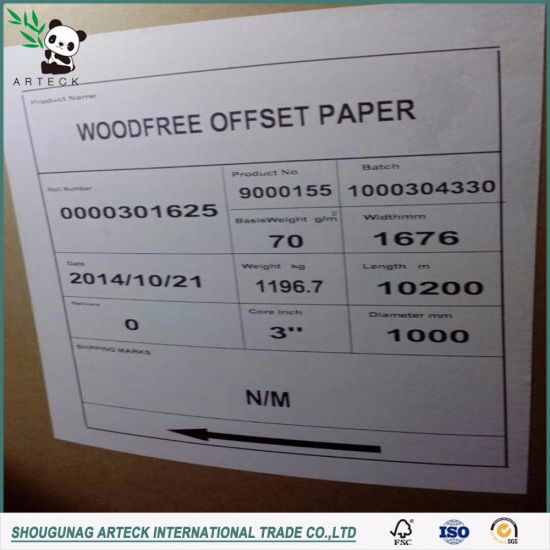 100% Uncoated Woodfree Offset Paper