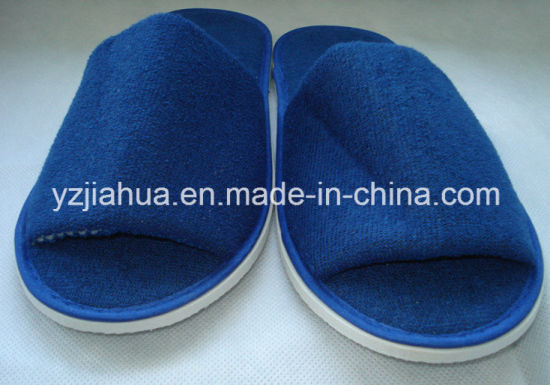 Hotel Terry Open Toe EVA OEM Logo Slipper (GH003) pictures & photos