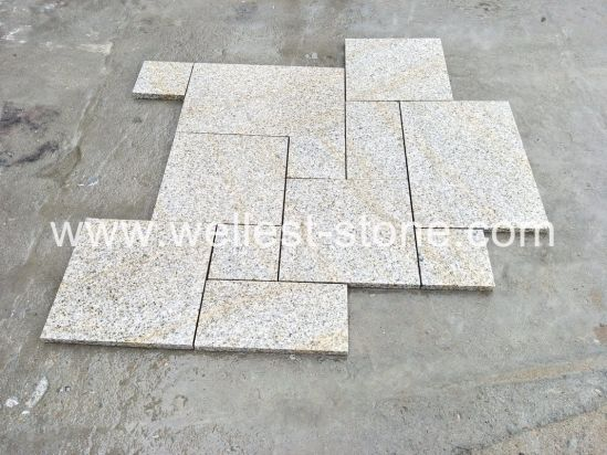 China Natural Granite Rusty Floor Tile Flamed Stone Puzzle Floor