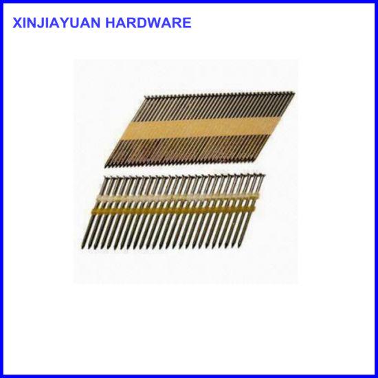 China Full Head Paper Tape 34 Degree Framing Stick Nails - China ...