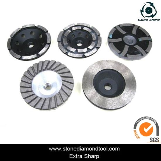 Single Turbo Shape Aluminium Type Diamond Cup Grinding Wheels pictures & photos