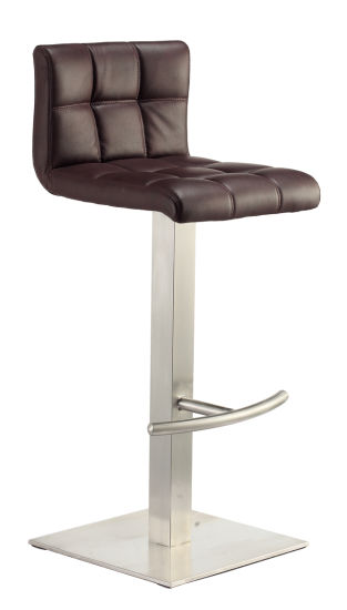 Groovy China Heavy Base Backless Stainless Steel Leather Bar Stool Gmtry Best Dining Table And Chair Ideas Images Gmtryco