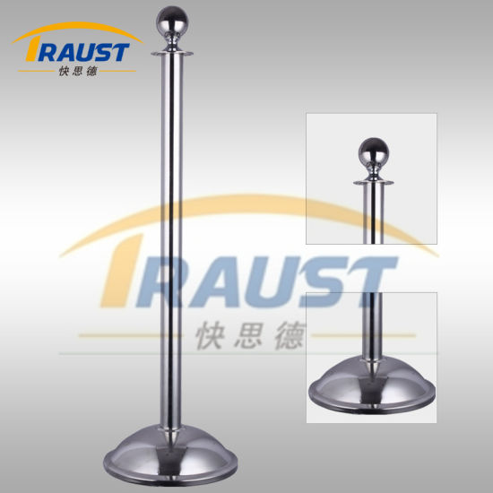 Hot Sale! ! Steel Queue Barrier/ Rope Post/ Rope Pole Stanchion