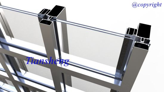 Aluminum Exterior Glass Curtain Wall for Commercial and Residential Building (offer installation service if necessary) pictures & photos
