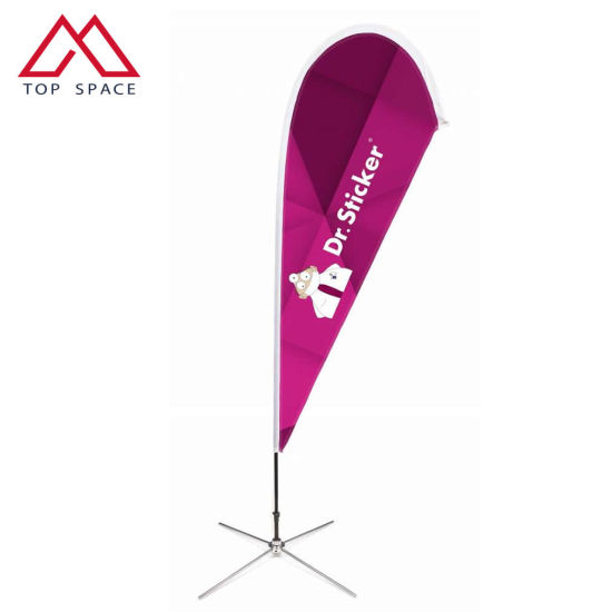 Full Printing Beach Advertising Flag for Outdoor Events