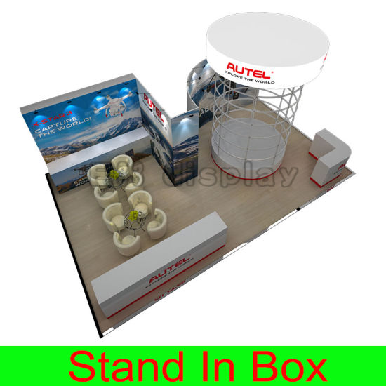 Customized Large Size Portable Flexible Reusable DIY Modular Trade Show Exhibition Booth with Lightbox Display Effect