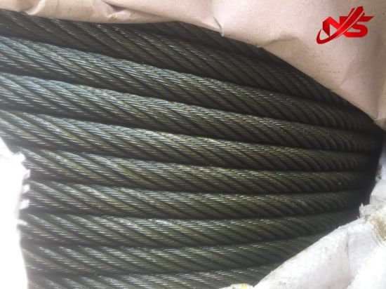 Elevator 8X19s+Sisal Core Steel Wire Rope pictures & photos