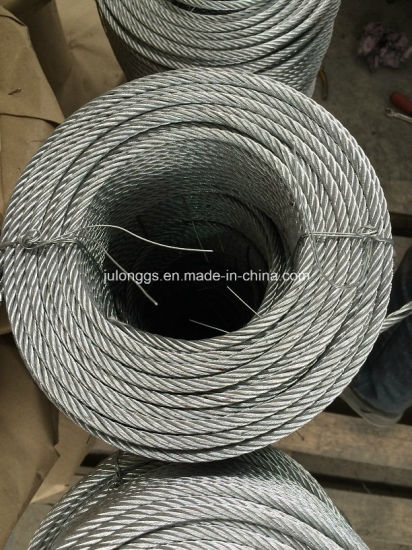 6*12+7FC-6mm-50m/Roll Galvanized Steel Wire Rope pictures & photos