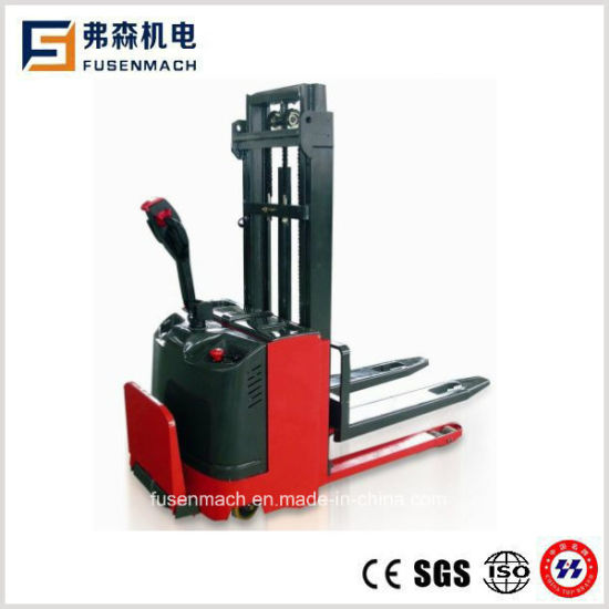 Electric Pallet Stacker (Double pallet) with Ce (1600mm, 1000kg capacity)
