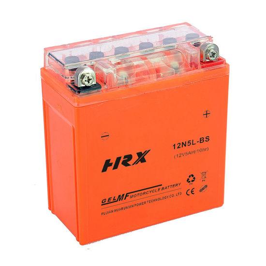 Good Quality 12n5l-BS 12V5ah Lead Acid Maintenance Free Gel Motorcycle Battery