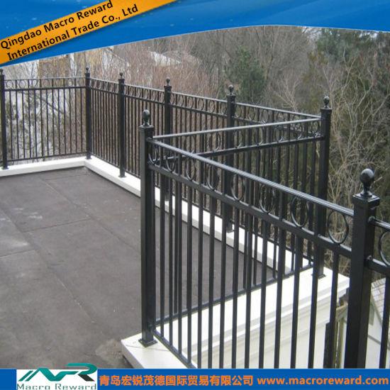 balcony railing code Outdoor Metal Steel Guardrail Handrail Balcony Railing
