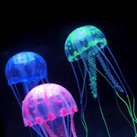 Hx New Glowing Effect Jellyfish For Aquarium Fish Jar Tank