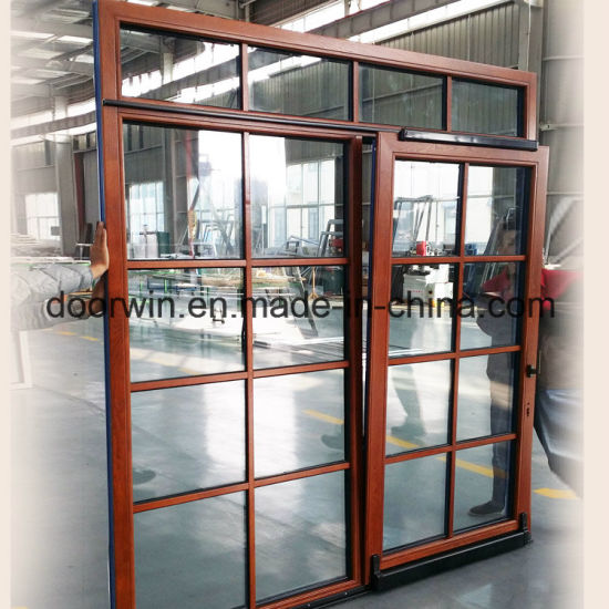 China Thermal Break Aluminum with Red Oak Wood Cladding Form Inside on