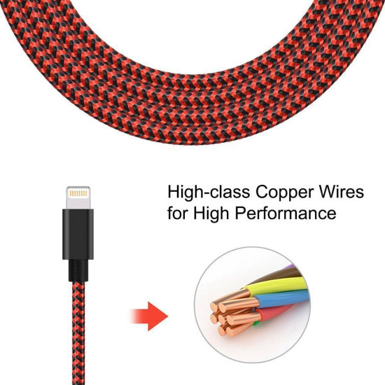 2A USB Cable High Quality Nylon Fast Charging Cable to Lightning Cable pictures & photos