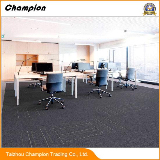 Pvc Rubber Back Carpet Tiles China Whole Waterproof Tile 50 50cm Commercial Usage Office 100 Pp
