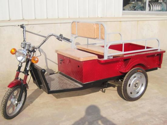 Hot Sale Electric Delivery Cargo Tuktuk Tricycle Rickshaw 600W (HD-014B) pictures & photos