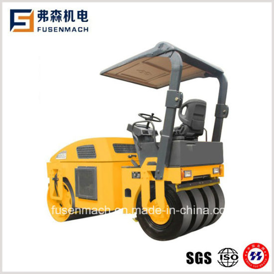 3tons Tire Combined Hydraulic Mini Vibratory Road Roller