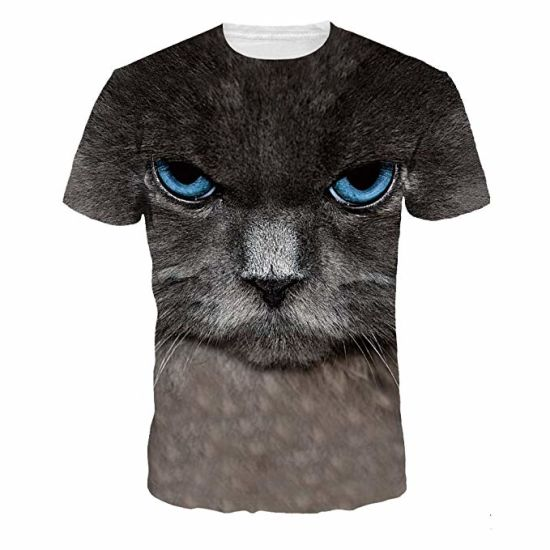 Design Your Own 3D Printed Sublimation Polyester Short Sleeve Mens T Shirt with Private Label