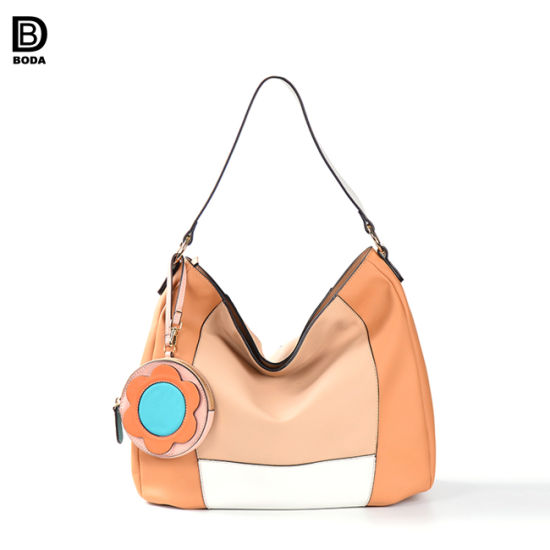 1a5dd42d38 PU Leather Fashion New Designer Tote Handbag with Flower Purse pictures    photos