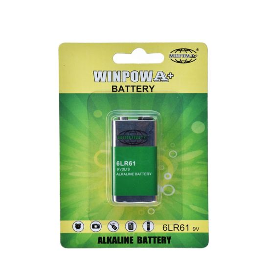 Alkaline Square 480mAh 9V Battery (6LR61) pictures & photos