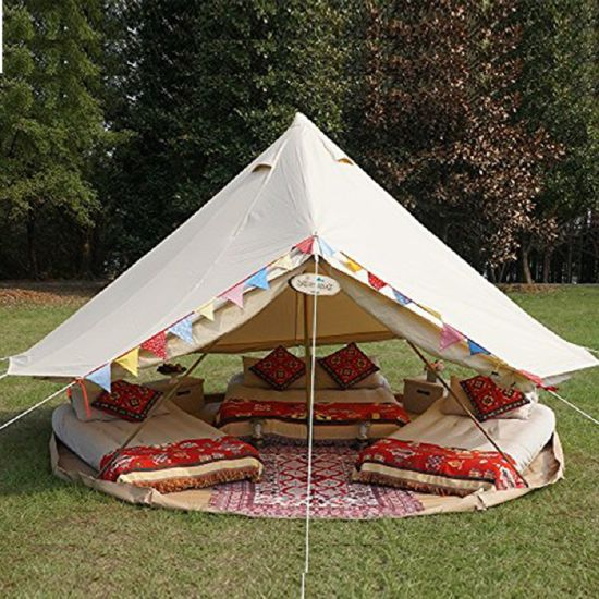 Top Qaulity Waterproof Canvas 10 Square Meter Bell Tent for Safari & China Top Qaulity Waterproof Canvas 10 Square Meter Bell Tent for ...