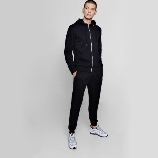 Winter Sportwear Unisex Zip Hoodie Joggers Tracksuit with Custom Logo pictures & photos